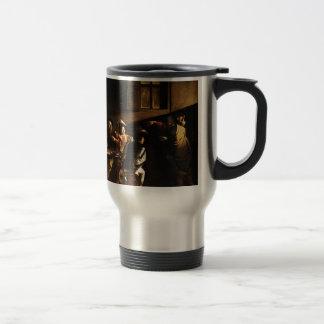 Caravaggio - The Calling of Saint Matthew Travel Mug