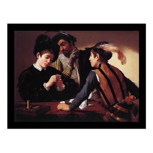 Caravaggio The Cardsharps Post Cards