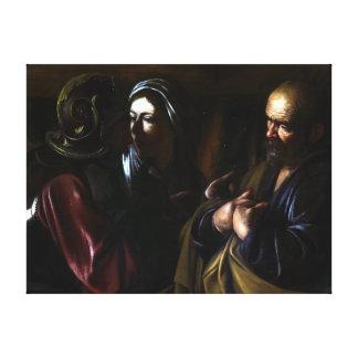 Caravaggio The Denial of Saint Peter Canvas Print