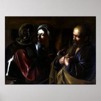 Caravaggio The Denial of Saint Peter Poster