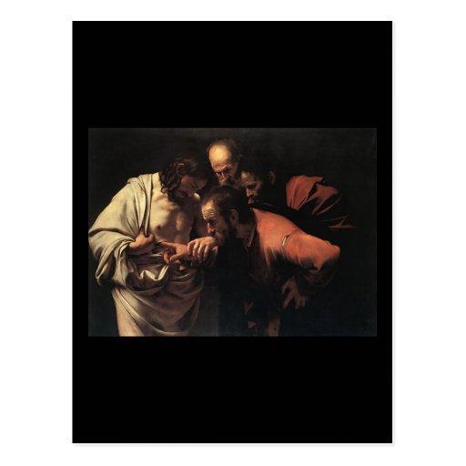 Caravaggio The Incredulity Of Saint Thomas Postcard