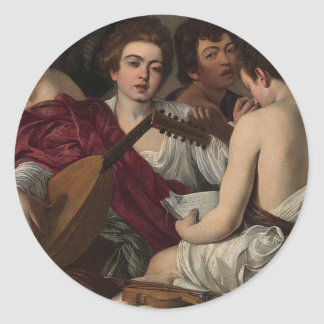 Caravaggio - The Musicians - Classic Artwork Classic Round Sticker