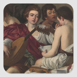 Caravaggio - The Musicians - Classic Artwork Square Sticker