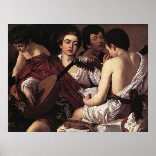 Caravaggio The Musicians Print