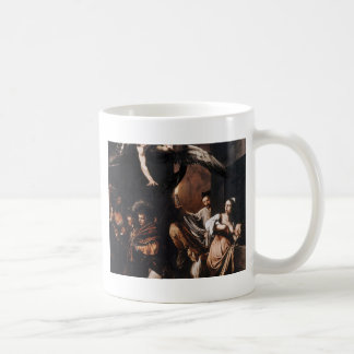 Caravaggio - The seven Works of Mercy Painting Coffee Mug