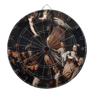 Caravaggio - The seven Works of Mercy Painting Dartboard