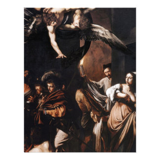 Caravaggio - The seven Works of Mercy Painting Letterhead