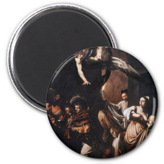 Caravaggio - The seven Works of Mercy Painting Magnet