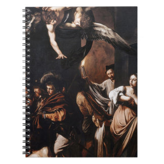 Caravaggio - The seven Works of Mercy Painting Spiral Notebook