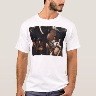 Caravaggio - The seven Works of Mercy Painting T-Shirt