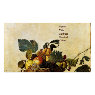 Caravaggio's Basket of Fruit Business Card Templates