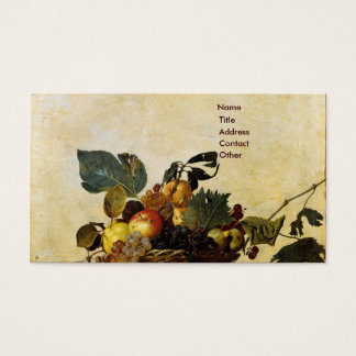 Caravaggio's Basket of Fruit Business Card