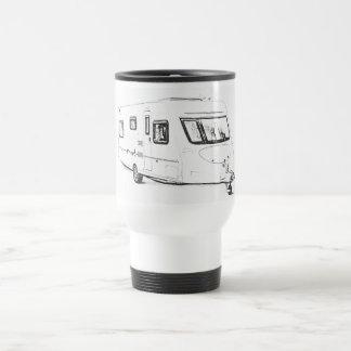 """""""Caravan"""" design travel mugs"""