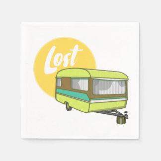 Caravan Lost Retro Seventies Style Paper Napkins