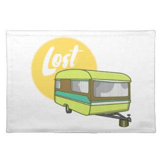 Caravan Lost Retro Seventies Style Place Mat