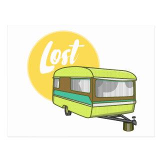 Caravan Lost Summer Holiday Postcard