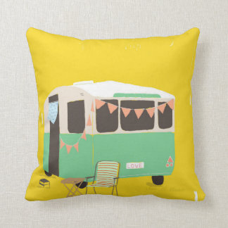 caravan throw pillow
