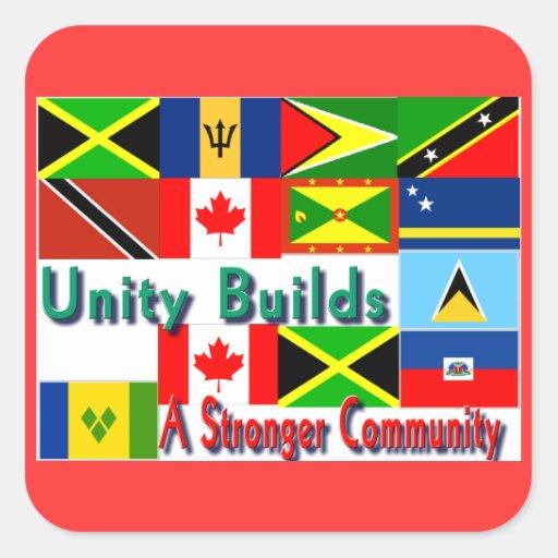 Carbbean-canada unity square sticker