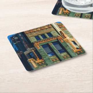Carbide and Carbon Building Square Paper Coaster