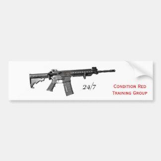Carbine, 24/7, Condition RedTraining Group Bumper Sticker