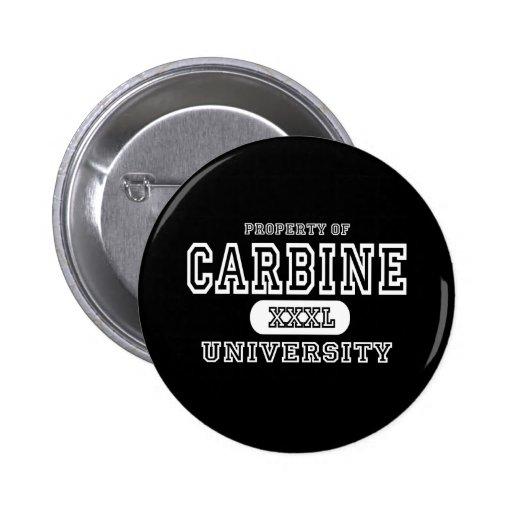 Carbine University Dark Pinback Button