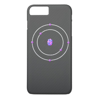 Carbon Atom with Carbon FIber Background iPhone 8 Plus/7 Plus Case