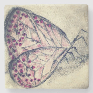 Carbon Butterfly, Marble Coaster Stone Beverage Coaster