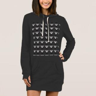 Carbon Diamond Hoodie Dress