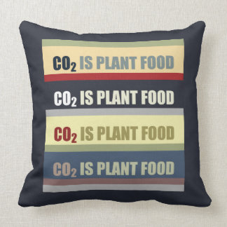 Carbon Dioxide Is Plant Food Throw Pillows