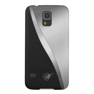 Carbon Fiber and Brushed Metal 04 Cases For Galaxy S5