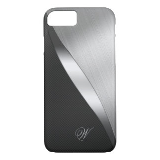 Carbon Fiber and Brushed Metal iPhone 8/7 Case