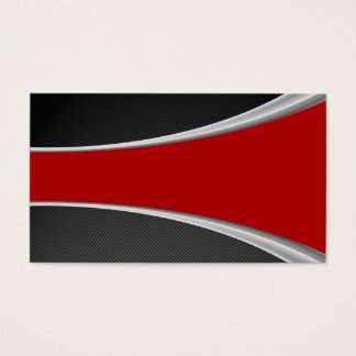 Carbon Fiber and red Business Card