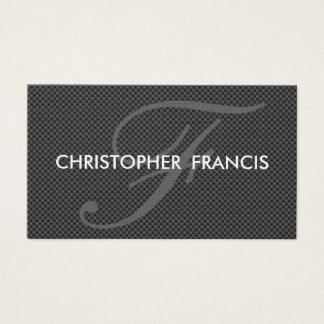 Carbon fiber appearance monogram cards