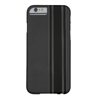 Carbon Fiber & Black Stripes iPhone 6 case
