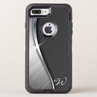 Carbon Fiber & Brushed Metal 4 OtterBox Defender iPhone 8 Plus/7 Plus Case