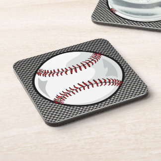 Carbon Fiber look Baseball Drink Coaster