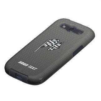 Carbon Fiber look Checkered Flag Samsung Galaxy SIII Cover