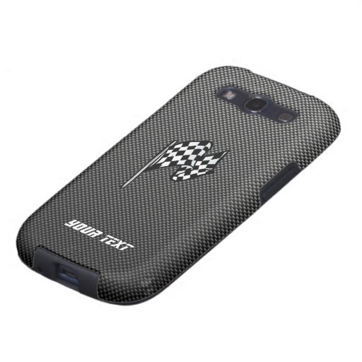 Carbon Fiber look Checkered Flag Samsung Galaxy S3 Cases