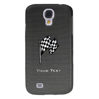 Carbon Fiber look Checkered Flag HTC Vivid Covers