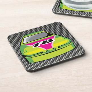 Carbon fiber look Nascar Beverage Coasters