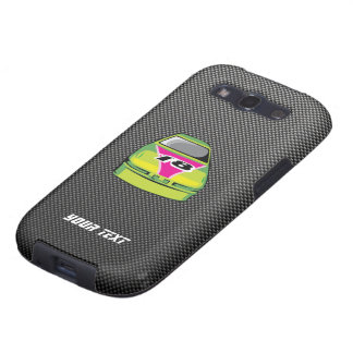 Carbon fiber look Nascar Samsung Galaxy SIII Cover