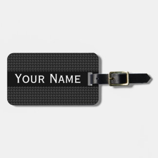 Carbon fiber luggage tag