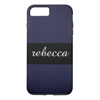 carbon fiber pattern blue Case-Mate iPhone case