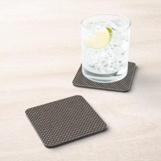 Carbon Fiber Pattern (Faux) Drink Coasters