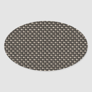 Carbon Fiber Pattern (Faux) Oval Sticker