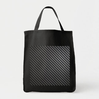 Carbon Fiber Pattern Tote Bag