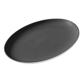 Carbon fiber porcelain serving platter