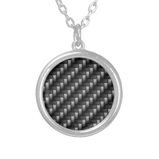 carbon fiber silver plated necklace