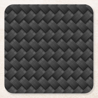 Carbon fiber square paper coaster