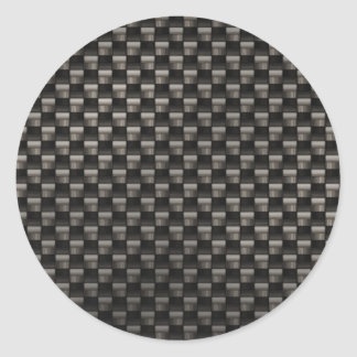 Carbon Fiber Texture Classic Round Sticker
